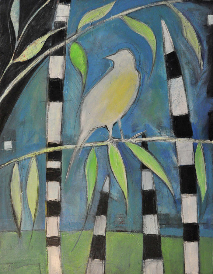 Yellow Bird Up High... Painting  - Yellow Bird Up High... Fine Art Print