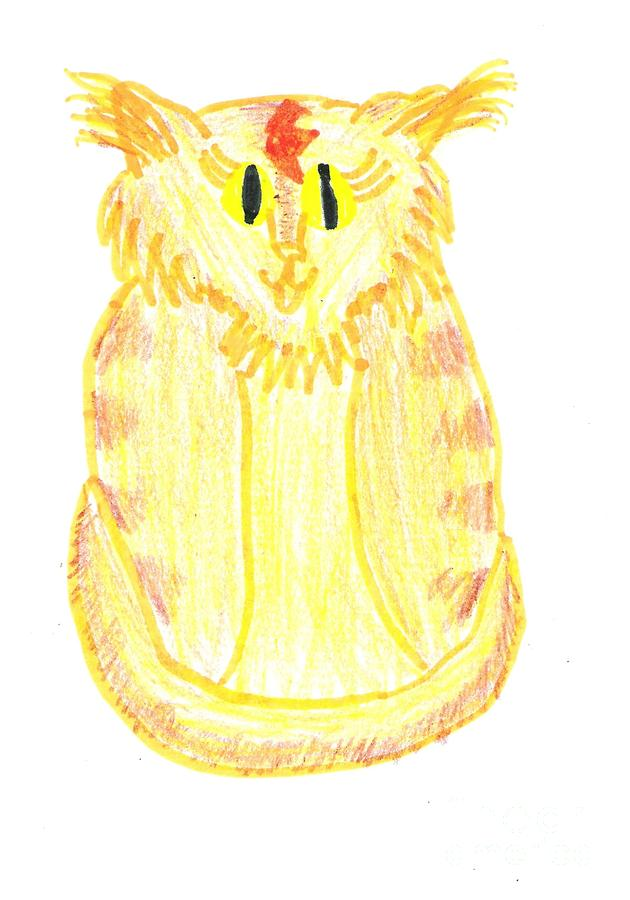Yellow Cat Drawing