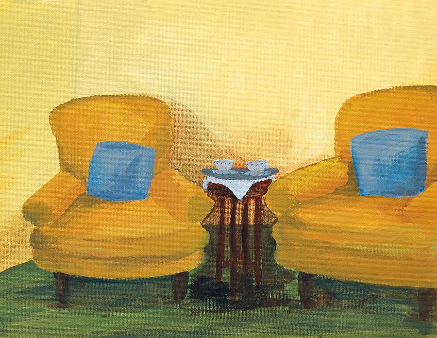 Yellow Chairs Painting