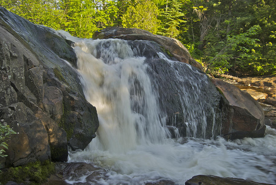 Landscape Photograph - Yellow Dog Falls 4192 by Michael Peychich