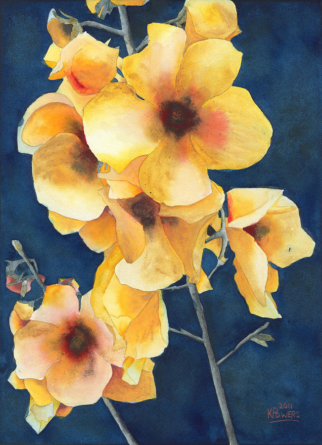 Yellow Flowers Painting  - Yellow Flowers Fine Art Print