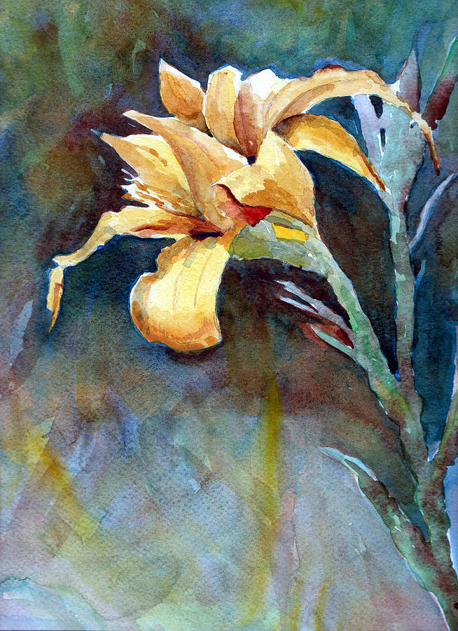 Yellow Iris Sculpture  - Yellow Iris Fine Art Print