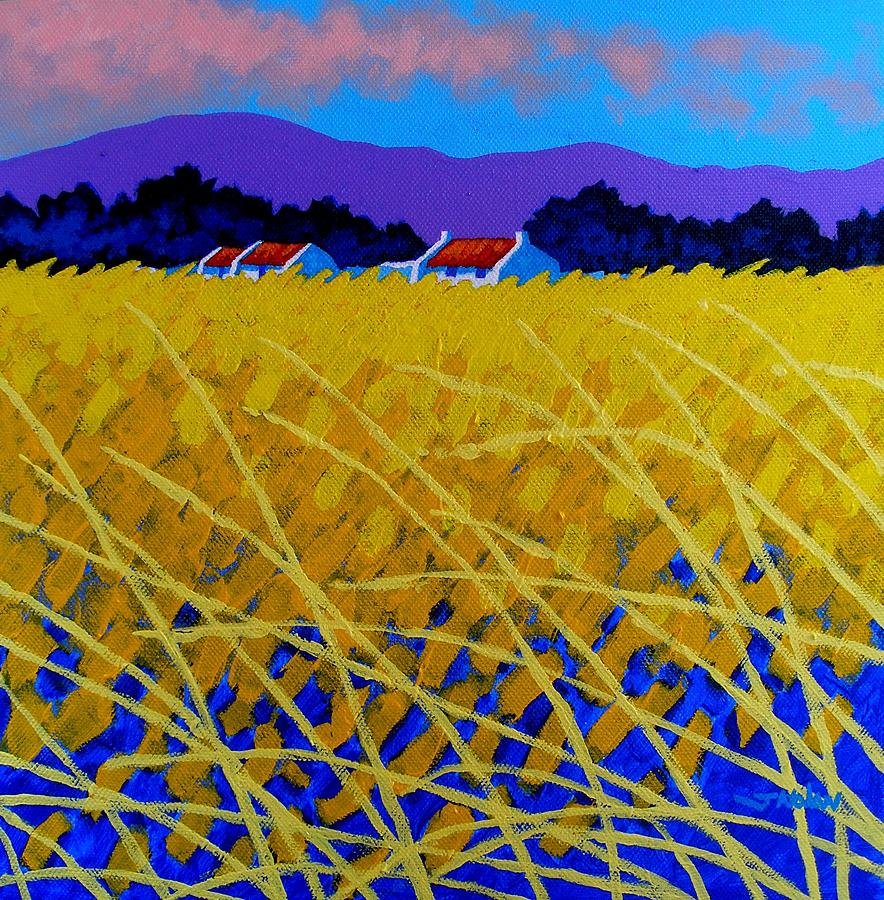 Yellow Meadow Painting  - Yellow Meadow Fine Art Print