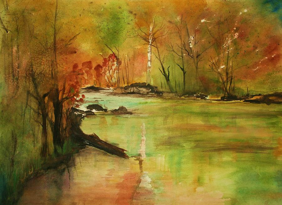Yellow Medicine River Painting  - Yellow Medicine River Fine Art Print
