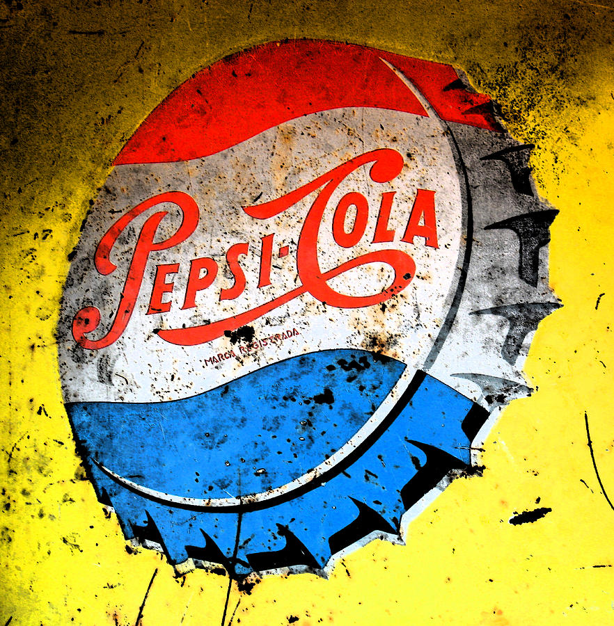 Yellow Pepsi Pop Art Photograph  - Yellow Pepsi Pop Art Fine Art Print