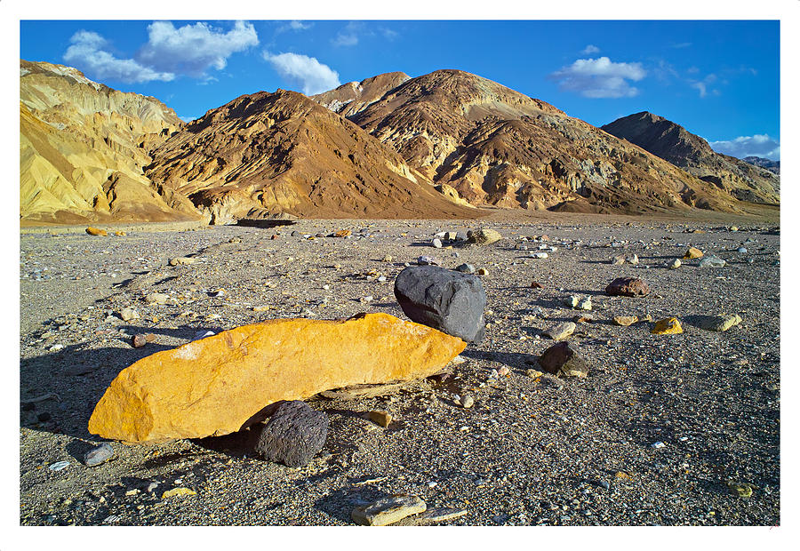 Death Valley Photograph - Yellow Rock At Death Valley by Laurence Matson