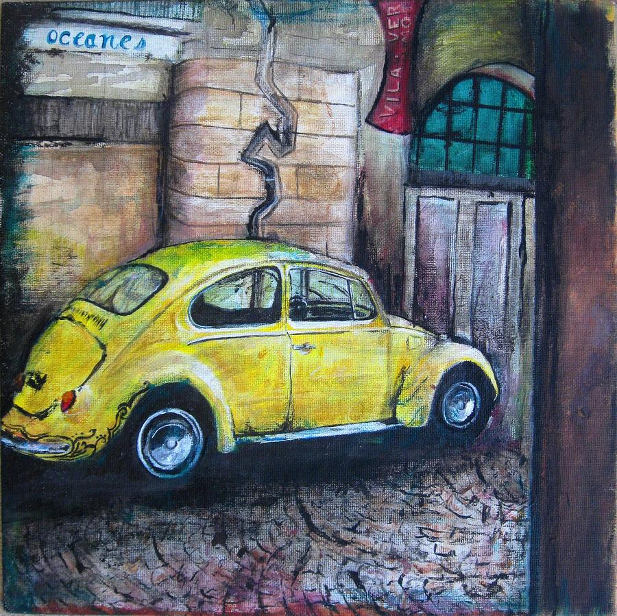 Yellow Streets Painting  - Yellow Streets Fine Art Print