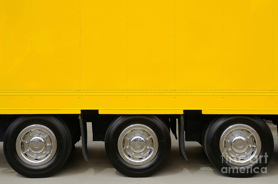 Yellow Truck Photograph
