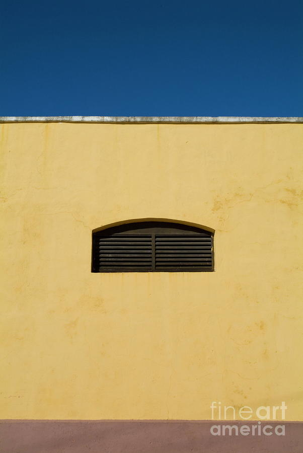 Yellow Wall In Trinidad Photograph