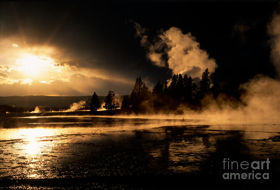 Yellowstone River Sunrise Photograph  - Yellowstone River Sunrise Fine Art Print