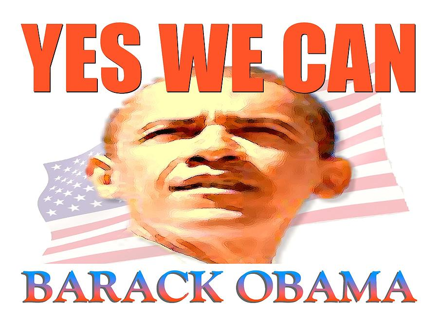 Yes We Can - Barack Obama Poster Digital Art  - Yes We Can - Barack Obama Poster Fine Art Print