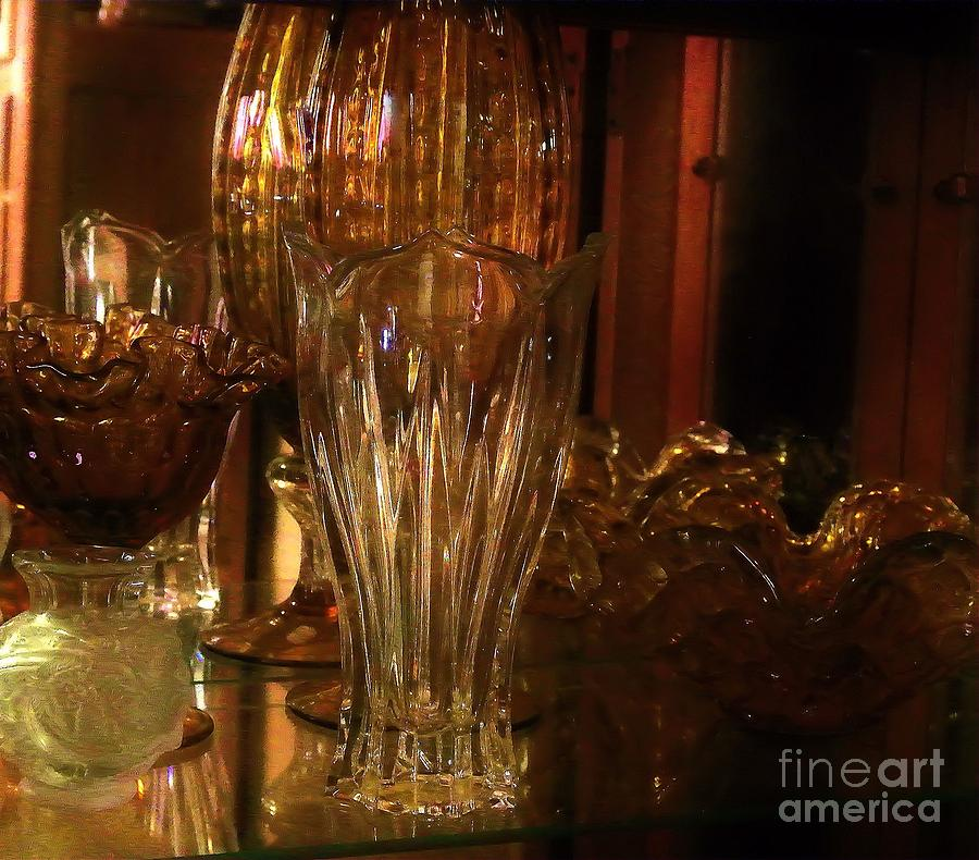 Yesturdays Glass Collection Painting  - Yesturdays Glass Collection Fine Art Print