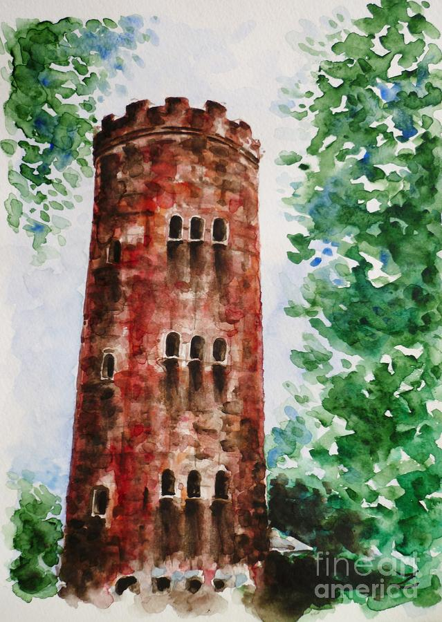 Yokahu Tower  Painting  - Yokahu Tower  Fine Art Print