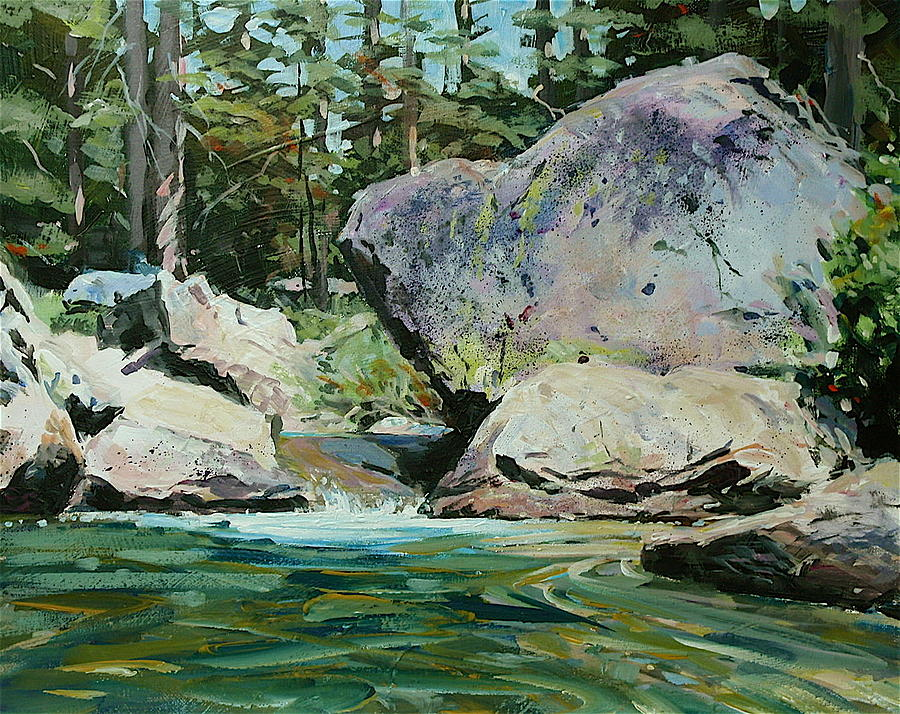 Yolo River Boulder Painting