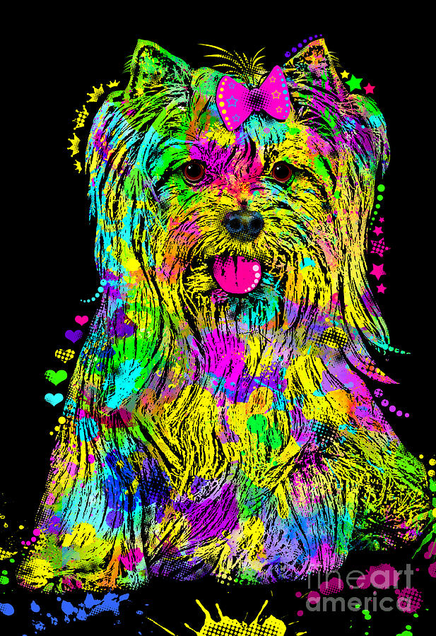 Yorkie Beauty Digital Art  - Yorkie Beauty Fine Art Print
