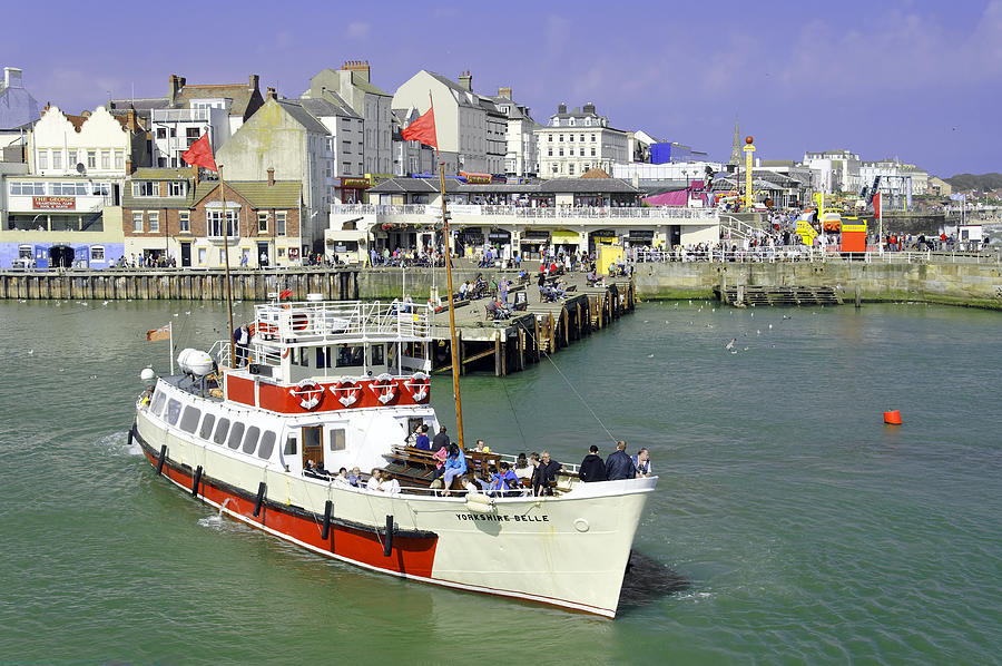 Yorkshire Belle Turning In Bridlington Harbour Photograph