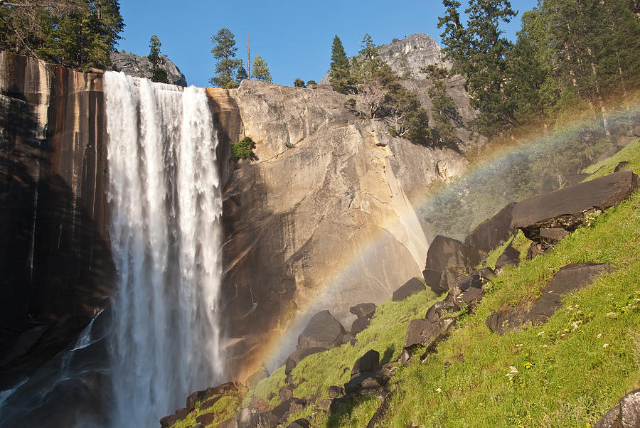 Yosemite Mist Trail Rainbow Photograph