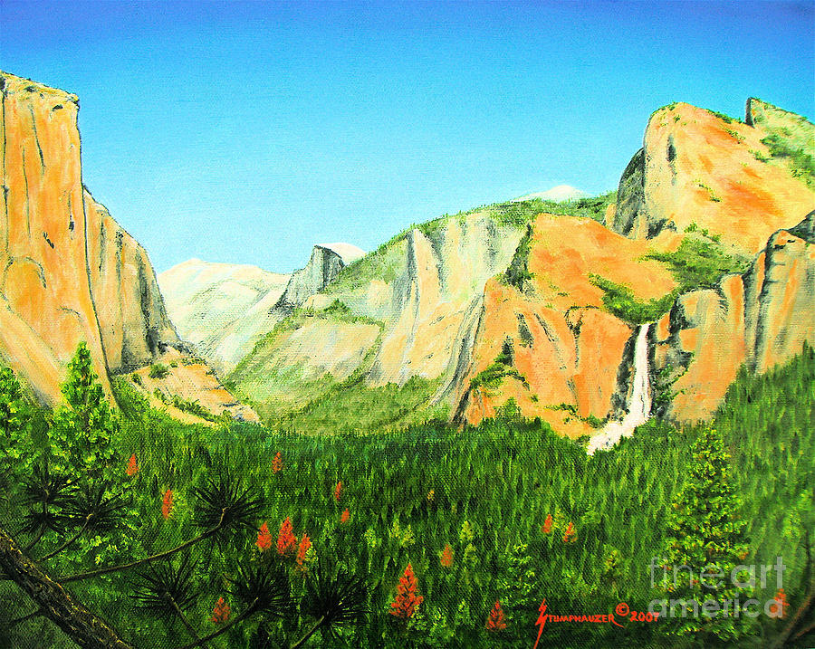 Yosemite National Park Painting  - Yosemite National Park Fine Art Print