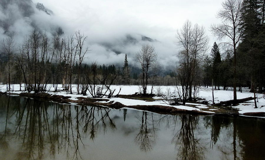 Yosemite River View In Snowy Winter Photograph