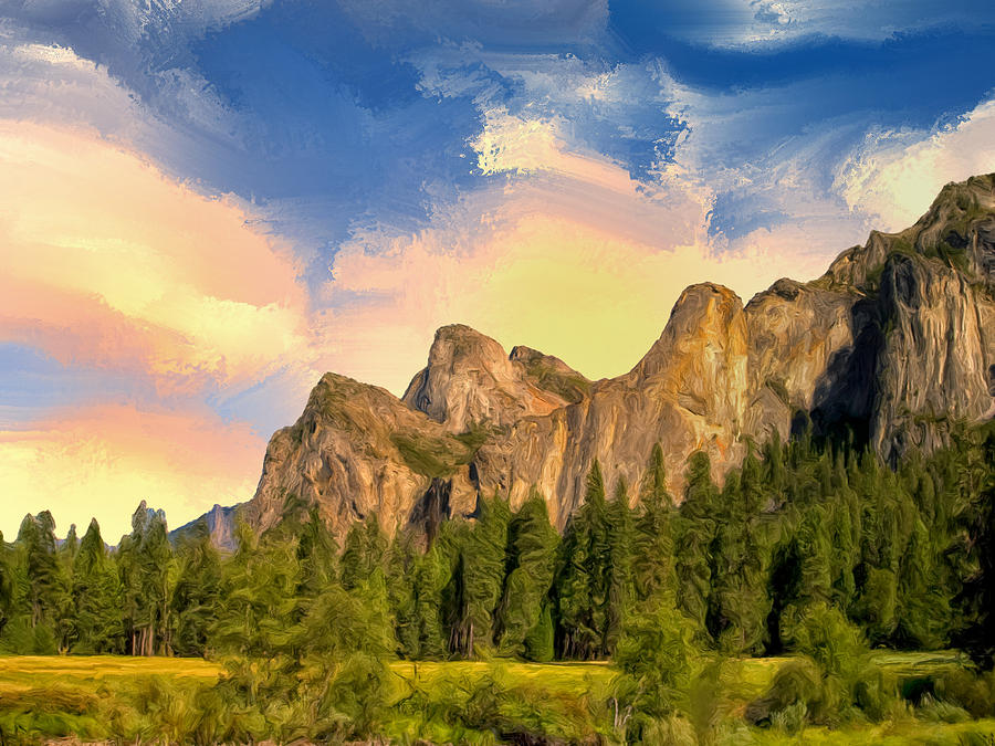 Yosemite Valley Morning Painting