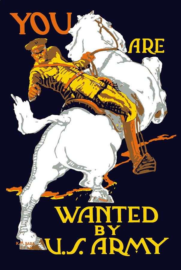 You Are Wanted By Us Army Painting  - You Are Wanted By Us Army Fine Art Print