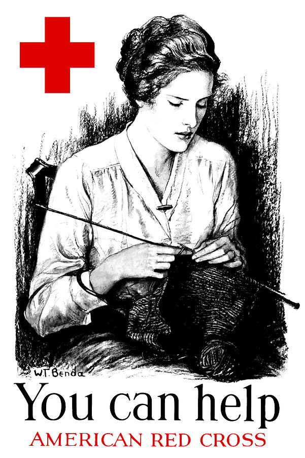 You Can Help American Red Cross Digital Art  - You Can Help American Red Cross Fine Art Print