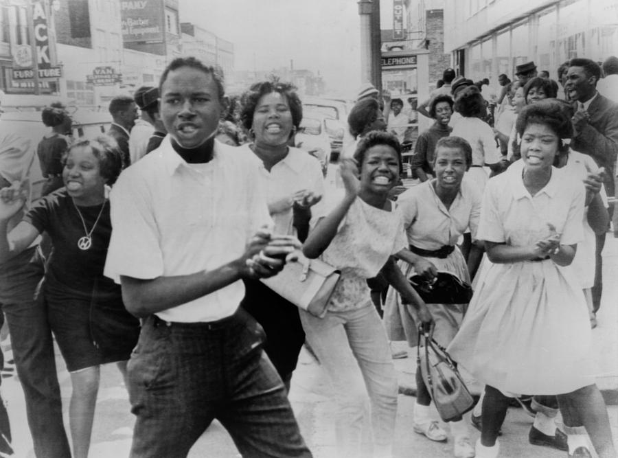 Young African American Demonstrators Photograph