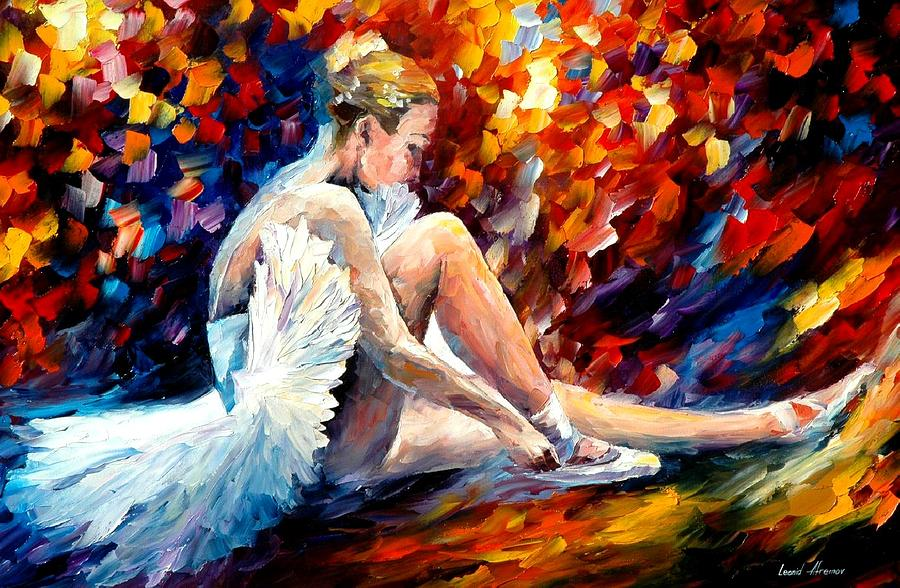 Young Ballerina Painting