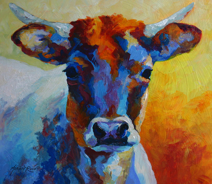 Young Blood - Longhorn Painting