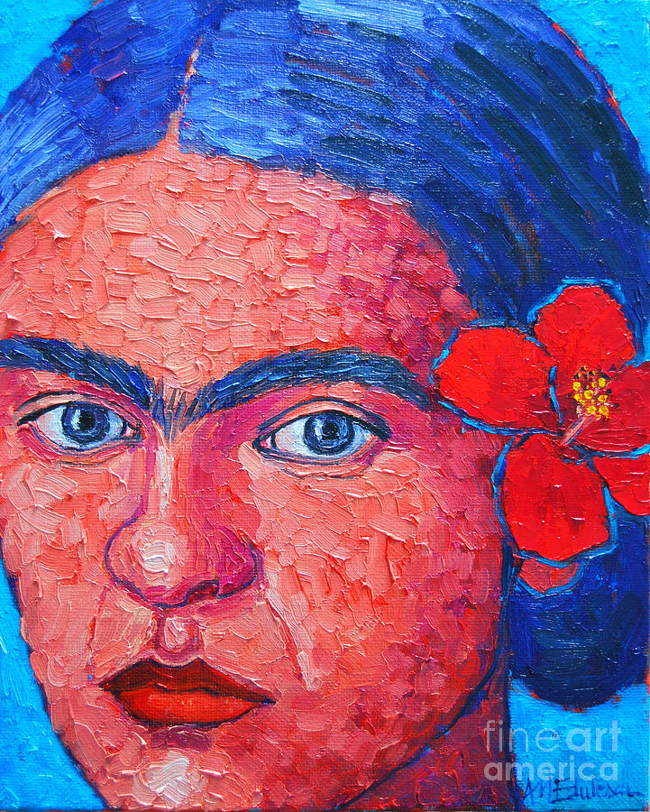 Young Frida Kahlo Painting  - Young Frida Kahlo Fine Art Print