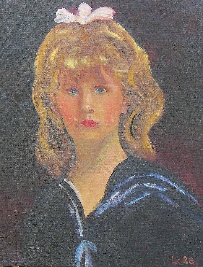 Young Girl With Bow Painting