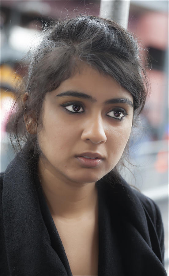 Young Indian Woman Nyc Photograph