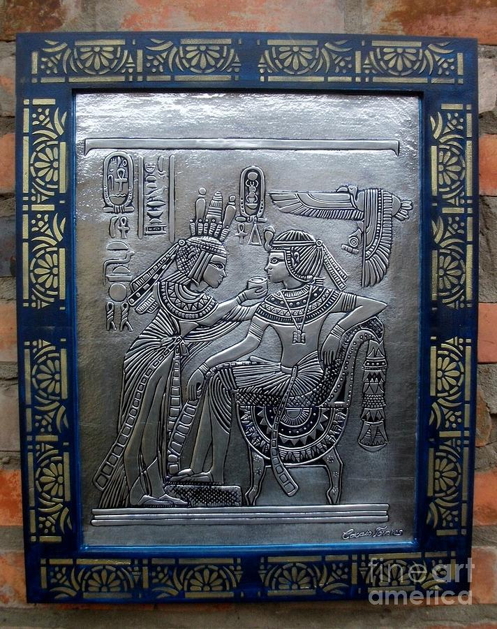 Young Kings Of Egypt. Relief  - Young Kings Of Egypt. Fine Art Print