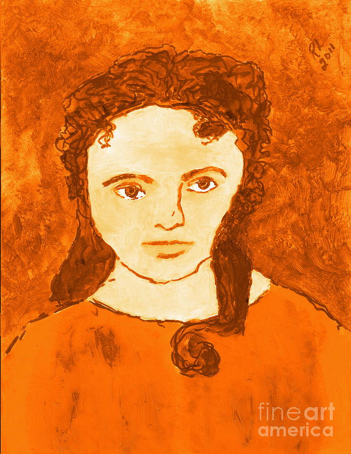 Young Liz Taylor 3 Painting