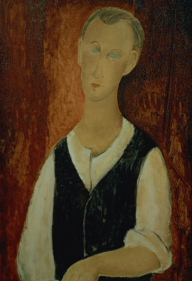 Young Man With A Black Waistcoat Painting