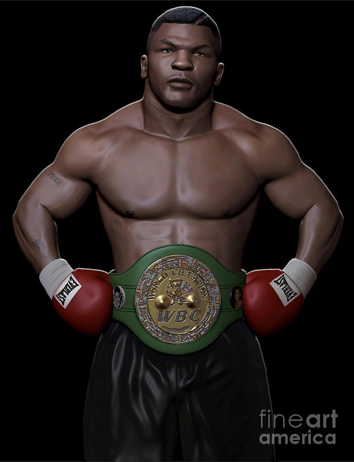 Young Mike Tyson Digital Art  - Young Mike Tyson Fine Art Print