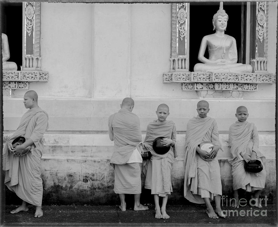 Young Monks At Old Temple Photograph