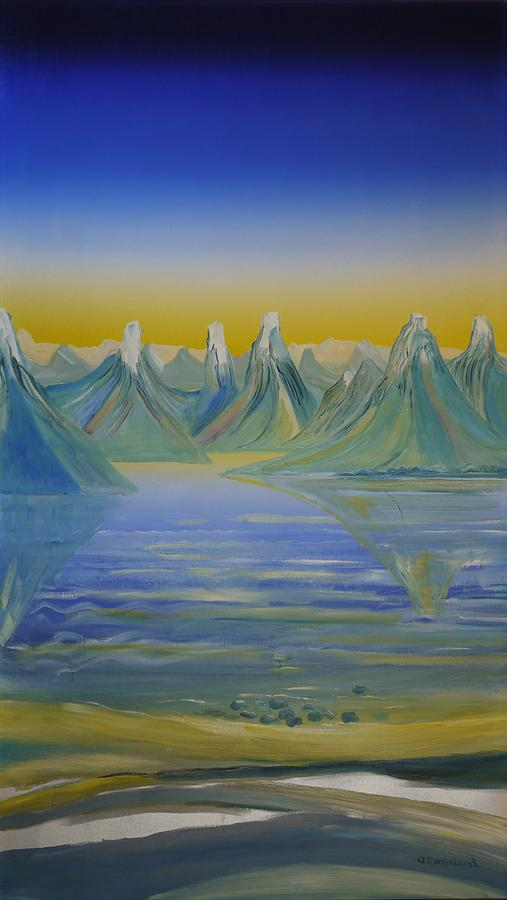 Young Montains In Lofoten. Painting 