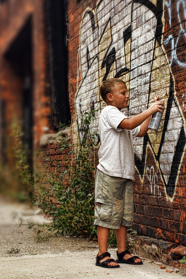 Young Vandal Photograph  - Young Vandal Fine Art Print