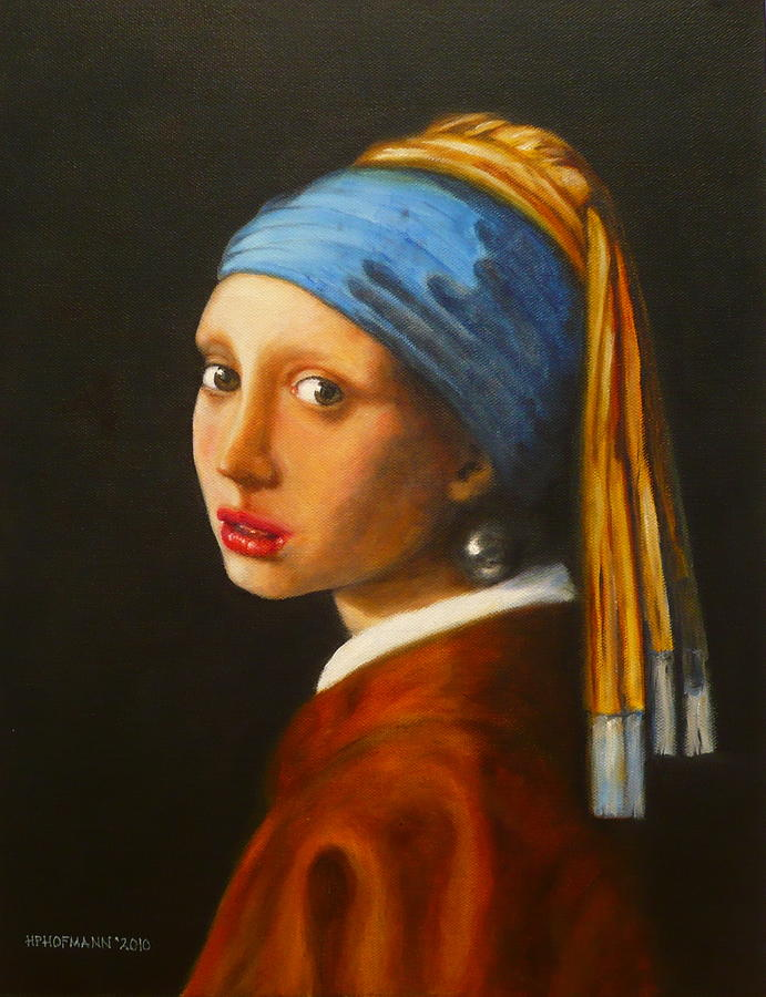 Young Woman With Pearl Earring Painting  - Young Woman With Pearl Earring Fine Art Print