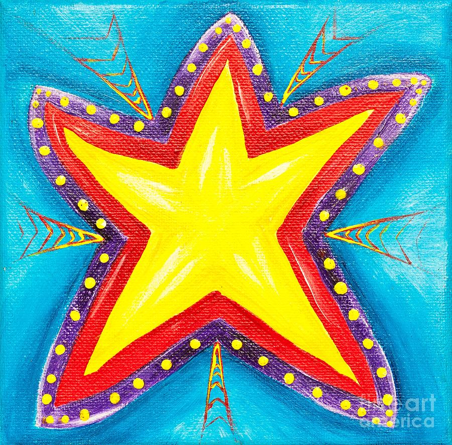Abstract Painting - Your A Star by Melle Varoy
