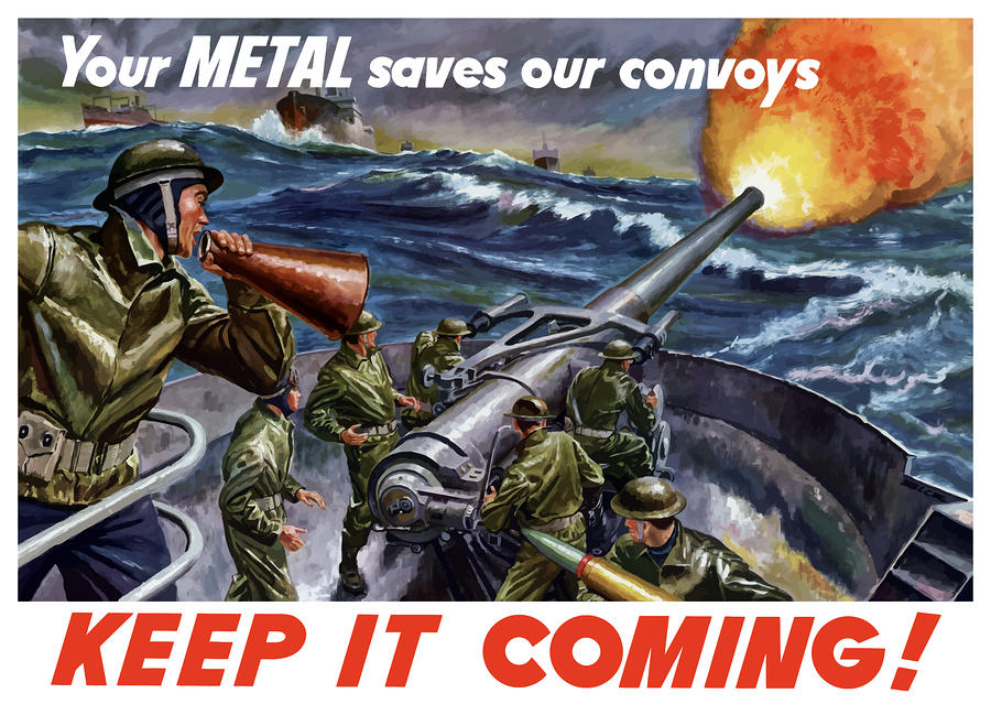 Your Metal Saves Our Convoys Painting
