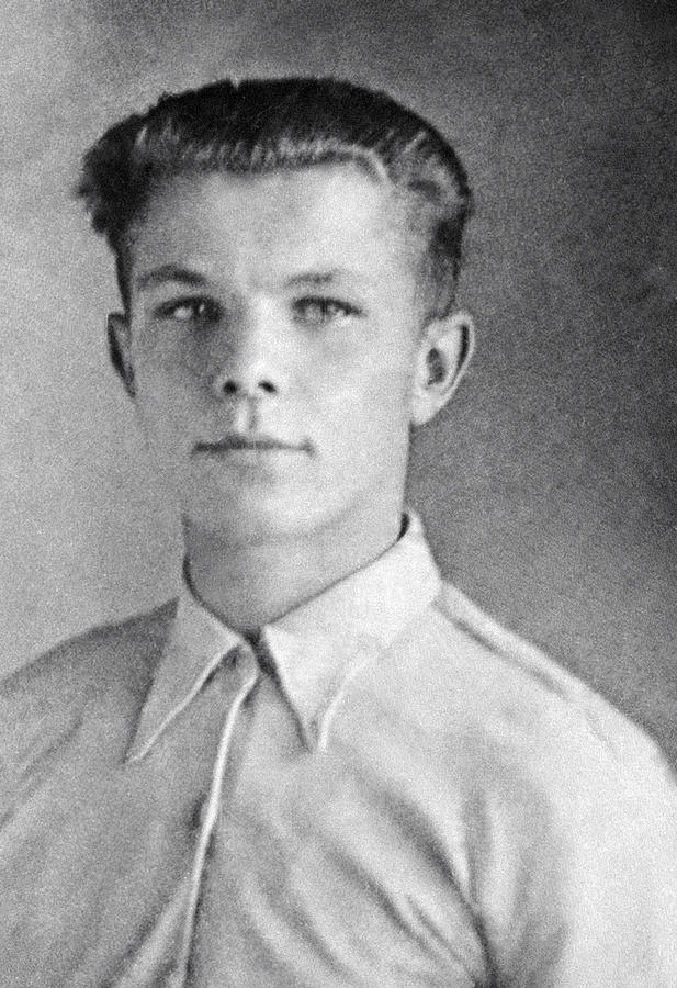 Yuri Gagarin As A Teenager, 1950 Photograph