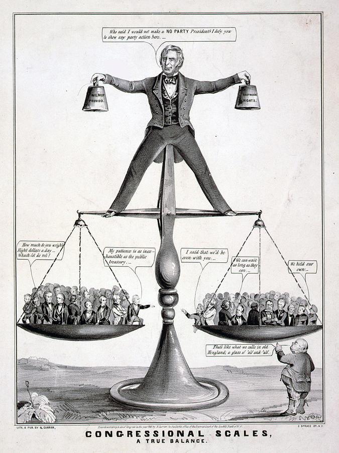 Zachary Taylor, Political Cartoon Photograph