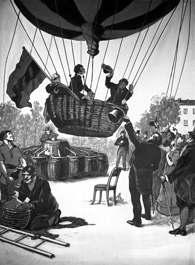 Zakharovs Balloon Flight, 1804 Photograph