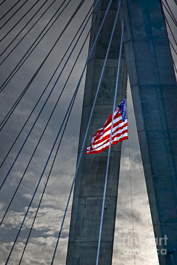 Zakim Bridge Boston Photograph  - Zakim Bridge Boston Fine Art Print