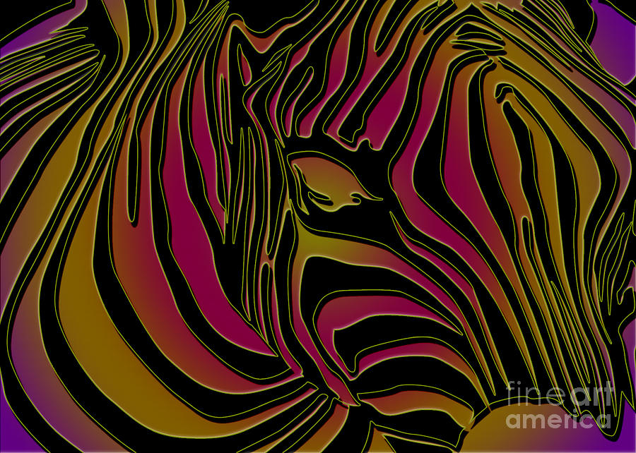 Zebra Abstract Digital Art