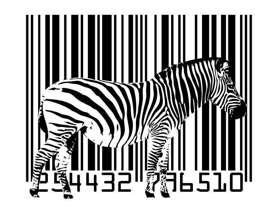 Zebra Barcode Digital Art
