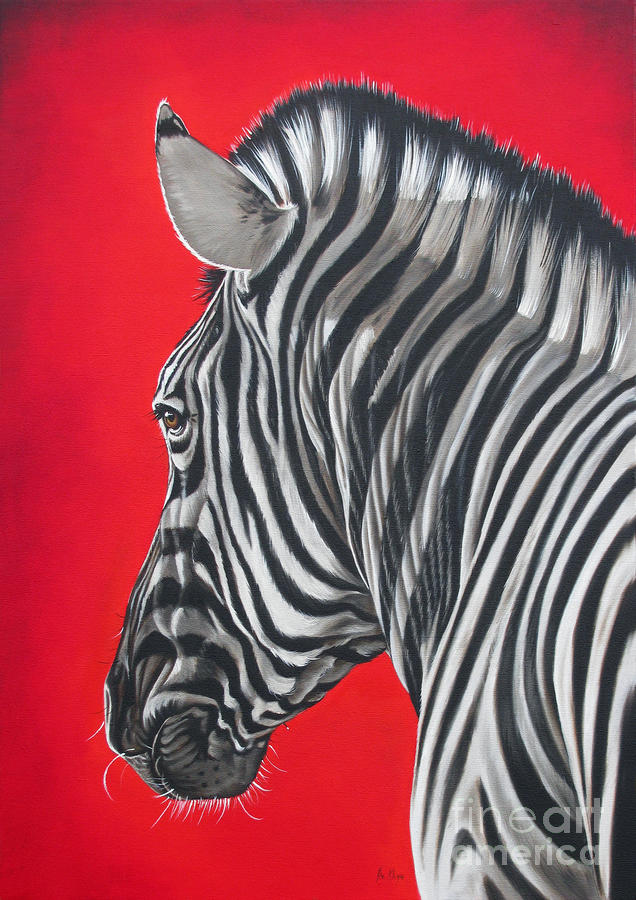 zebra in African sun Painting