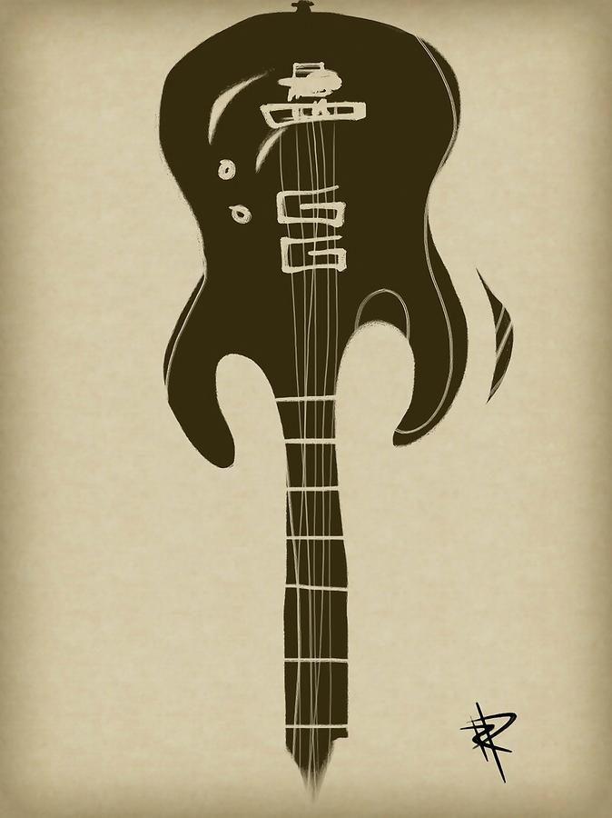 Zen Guitar Digital Art